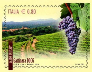 Un francobollo celebra il Gattinara DOCG