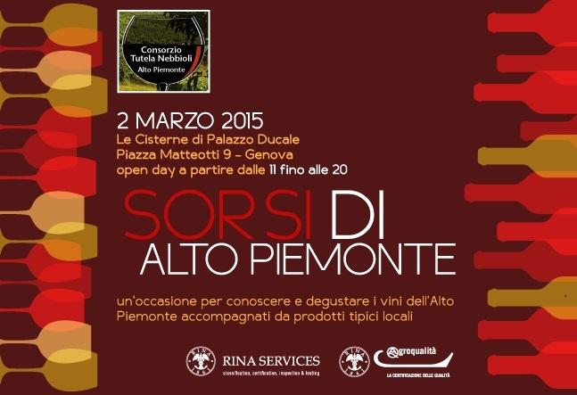 SORSI DI ALTO PIEMONTE –  Genova 2 marzo 2015