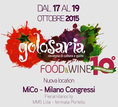 17 – 19 ottobre 2015 – Milano – Fieramilanocity