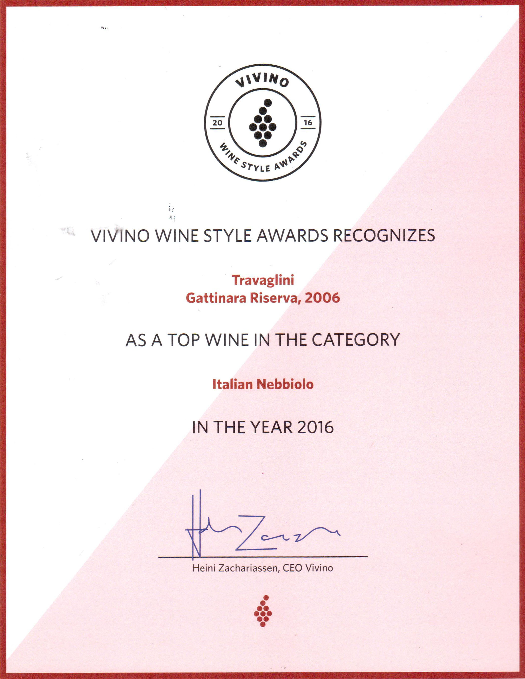 Premio Top Wine Vivino 2016