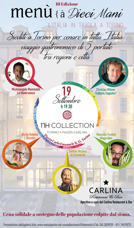 Menù a 10 mani – Torino – 19 settembre