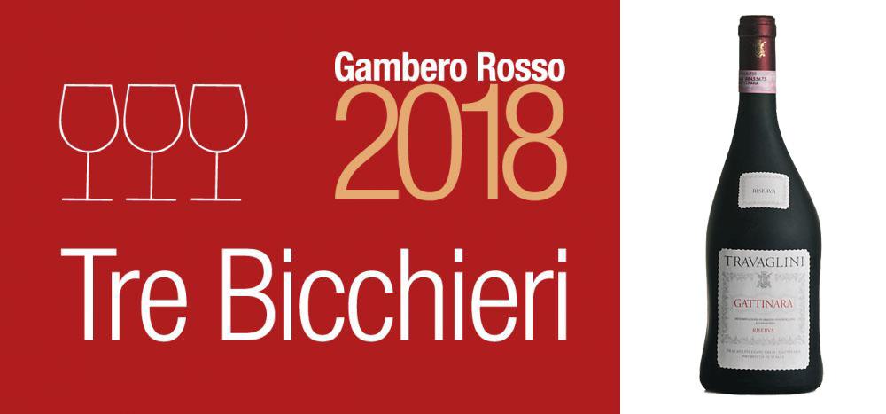 3 Bicchieri 2018 al Gattinara Riserva 2012