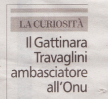 Il Gattinara Travaglini ambasciatore all'ONU