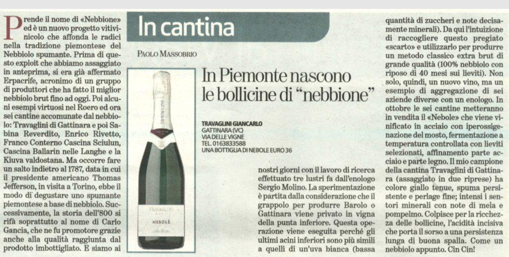 Articolo La Stampa 30 Aprile 2015 - NEBBIONE