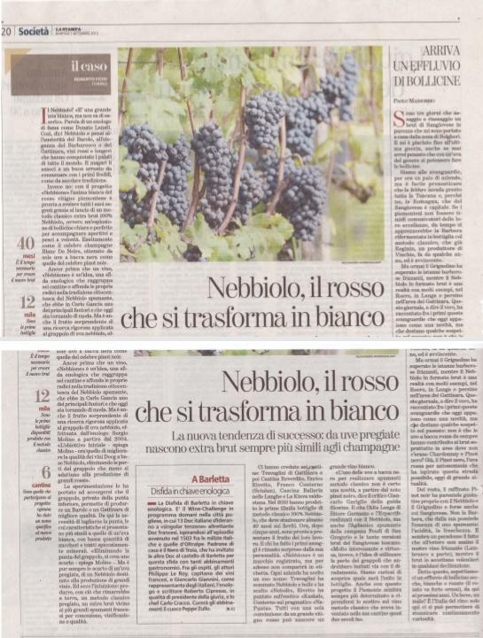 articolo presentazione Nebole Stampa Nazionale