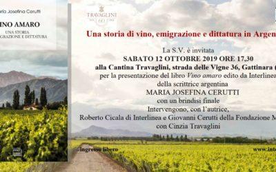 Vino Amaro – presentazione del libro – 12 ottobre 2019